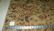 Gold Green Burgundy Victorian Print Fabric / Upholstery Fabric 1 Yard  R451