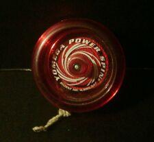 Yomega Power Spin Clear Red yo-yo ULTRA RARE