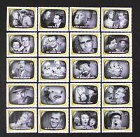 US Year 2009 #4414 Early TV Memories, Complete set of 20 Stamps in Singles MNH