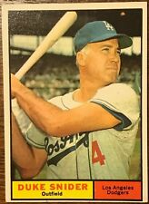 1961 Topps #443 Duke Snider Dodgers HOF EX-MT Nice Card Great Color & Gloss