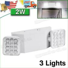 3x Led Emergency Exit Light Double Heads Home Office Market Ul Lighting Lamp Us
