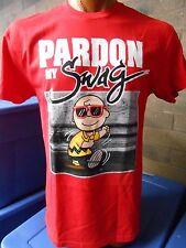 Mens Licensed Peanuts Charlie Brown Pardaon My Swag Shirt New L (42-44)