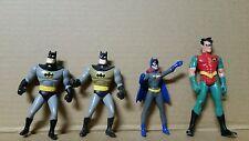 DC Comics Lot of 4 Toy Action Figures  Batman Robin Batgirl Auction Finds 702