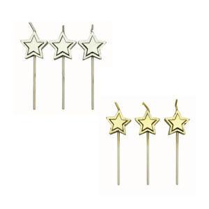 PME Pack of 8 STAR Candles Birthday Anniversary Party Cake Cupcake Decorating