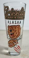 Alaska Grizzlies Bar And Grill Shot Glass Alaskan - EUC Excellent Used Condition