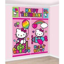 Hello Kitty Rainbow BIRTHDAY PARTY SUPPLIES SCENE SETTER WALL POSTER DECORATIONS