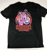 Men's Stranger Things Short Sleeve Graphic T-Shirt Black Acid New