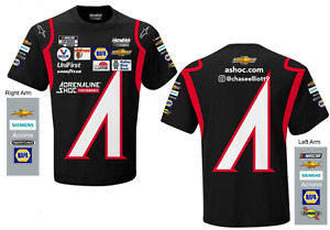 Chase Elliott 2021 #9 ASHOC Uniform NASCAR Black Sublimated Race Shirt New L XL