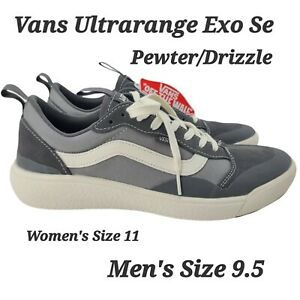 Vans Men's UltraRange Exo Se Suede Mesh Shoes Pewter Grey Drizzle Size 9.5 NEW