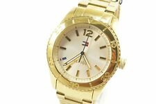 Tommy Hilfiger 1781268 Ritz Silver Dial Gold Tone Stainless Steel Ladies Watch