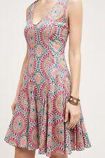 NWT Anthropologie South Island Dress, by HD in Paris - Orange motif, size 6