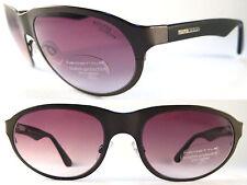 Rare MOMO DESIGN Gents Sunglasses Titanium/Acetat, Spring Hinges Black/Brown