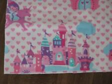 BABY GIRL PRINCESS CASTLE UNICORN BABY BLANKET / SOFT FLANNEL / HANDMADE / NEW