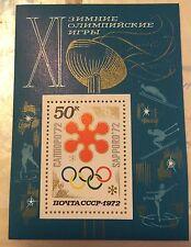 1972, Russia, USSR, 3949, Souvenir Sheet, MNH, Olympics