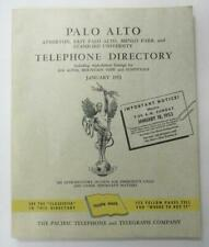 PALO ALTO PACIFIC TELEPHONE YELLOW PAGES DIRECTORY BOOK 1953 VINTAGE PHONE RARE