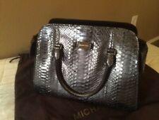 685f7e7f8b53 MICHAEL KORS Runway Collection Gia Satchel Python Handbag Purse - Anthracite