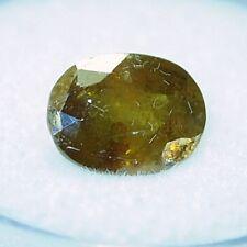 Sphene-Titanite-oval brown yellow,9.5x7.2x5.3mm,oval,2.8ct, TI-A17