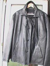 RUFFO made in Italy blouson jacke - Italian Black Leather Jacket EU 48 NEW