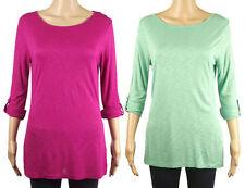 Monsoon Women's Viscose Scoop Neck 3/4 Sleeve Sleeve Tops & Shirts