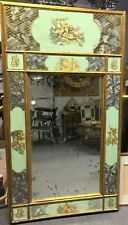 Antique Mirror, Hand Decorated / Painted / Etched Glass Mirror, Gorgeous!