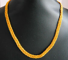Real looking 22ct gold plated  chain Asian  style necklace 16in choker CHAIN hc3