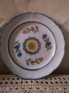 assiette décorative peinte