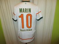 "Werder Bremen Nike Trikot 2009/10 ""SO GEHT BANK HEUTE"" + Nr.10 Marin Gr.S- M TOP"