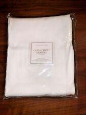 "Restoration Hardware White Cotton Twill Drapery 84"""