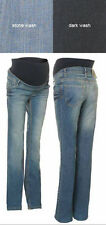 NWT Noppies Maternity Helsinki Denim Trouser Jeans DARK WASH XXL $90