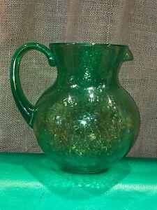 Acrylic Green Plastic Pitcher Hammered Look Iced Tea Water Juice Margarita