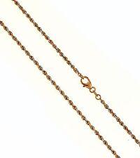 585 / 14 K Blanco- Rojo Cadena de oro 45 cm Cordón enroscado