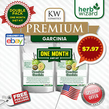 PURE GARCINIA CAMBOGIA x2 - STRONGEST LEGAL SLIMMING / DIET