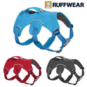 RUFFWEAR WEBMASTER HARNESS - Red, Grey or Blue Dog Web Master Multi Use Harness