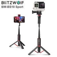 BlitzWolf BW-BS10 Sport Camera Bluetooth Wireless Selfie Stick Tripod Monopod