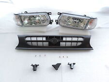91-94 Clear Headlights Corner Grill Conversion Tsuru Kit For Nissan B13 Sentra