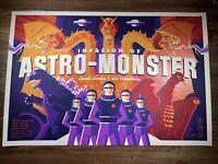 Godzilla Invasion Of Astro Monster Art Print Poster by Tom Whalen X/50 AP Mondo