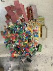vintage Marx plastic/tin playset. Huge lot of parts and pieces Fort dearborn