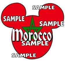 Disney Epcot Morocco Mickey Ears Scrapbook Paper Die Cut Embellishment Piece