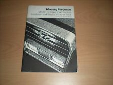 Massey Ferguson MF200, 500 & 2000 Tractors Installation & Service Voucher Book