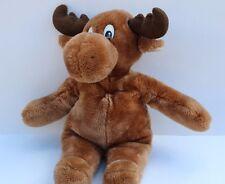 """Moose stuffed animal plush toy gift 12"""" Sitting"""
