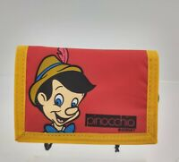 Pinocchio Red trifold wallet kids hook & loop never used very clean older