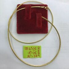 Gold Authentic 18k omega necklace 16 inches chain,,