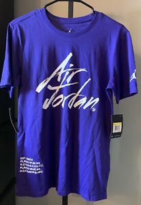 NWT $35 Nike Air Jordan Basketball Athletic Shirt Size S Purple 2018