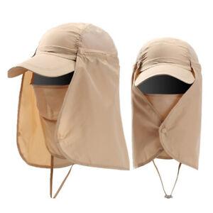 Outdoor Face Neck Cover Visor Cap Summer Sun Protection Hat Quick Dry Men Women