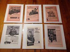 1947-1951 Harley Davidson  vintage Motorcycle Ads- Copy/ Variety / Individual.