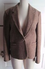 Vintage Chaus Harris Woven Tweed Checked Jacket Blazer Womens Juniors 13 14