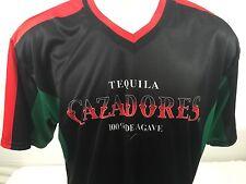 CAZADORES TEQUILA SOCCER JERSEY Mens Black Bartender Futball Football XL