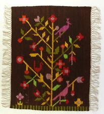 More details for dream birds & flowers vintage polish folk art textile wall hanging / rug