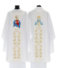 Marian Gothic Chasuble The United Heart of Mary with matching stole 734-B us