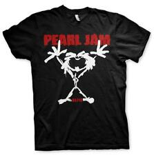 OFFICIAL LICENSED - PEARL JAM - STICK MAN T SHIRT GRUNGE VEDDER SEATTLE